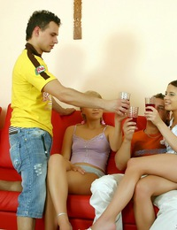2 teen couples get drunk and fuck their brains out